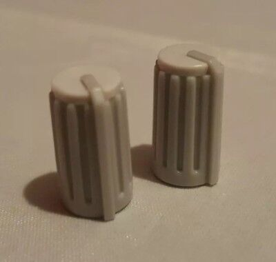 £4.99 • Buy X2 Behringer Eurorack Mixer Replacement Control Knobs Covers D-shaft White