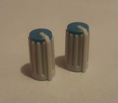 £4.99 • Buy X2 Behringer Eurorack Mixer Replacement Control Knobs Covers D-shaft Green Teal