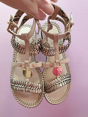 New Gold River Island Gladiator Sandals Adult Size 6  • 17£