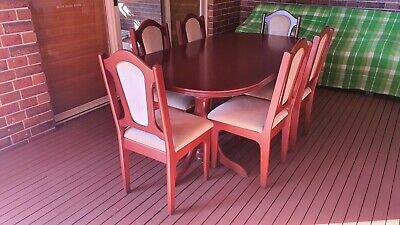 AU50 • Buy DINING TABLE (extendable) And 6 DINING CHAIRS