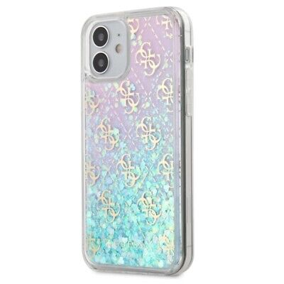 £18.76 • Buy Guess 4G Liquid Glitter Hybrid Case For IPhone 12 Mini Pink / Blue