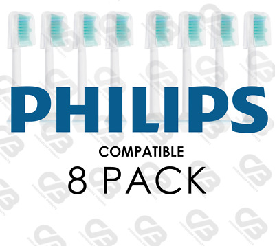 AU8.90 • Buy Electric Toothbrush Heads Compatible With Philips Sonicare Phillips W Cap 8 PACK