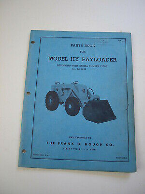 AU64.35 • Buy IH Hough HY Front-End Wheel PAY Loader Tractor Parts Catalog Manual List