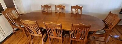 AU95 • Buy Extendable Teak Dining Set With 8 Chairs - Frenchs Forest NSW.