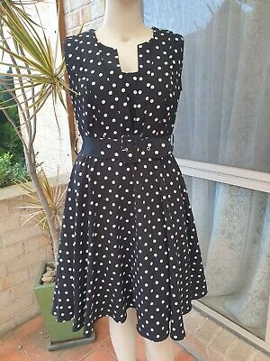 AU19.99 • Buy City Chic Size Xs Polka Dot Fit And Flare Dress