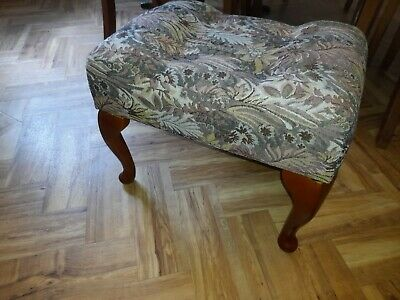 $104.82 • Buy Cherry Colour Wood Tapestry Antique Style Foot Stool Footstool Cabriole Legs Vgc