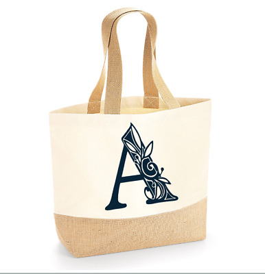 £13 • Buy Natural Hessian JUTE BAG Personalised With Your Initials