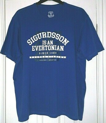 Fanatics Everton F.C Men's 2XL Blue Gylfi Sigurdsson Football T-shirt • 6.99£