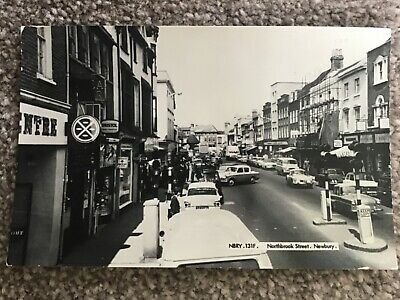 Northbrook Street, Newbury Posted 1966 From Newbury Real Photo Postcard • 7.50£