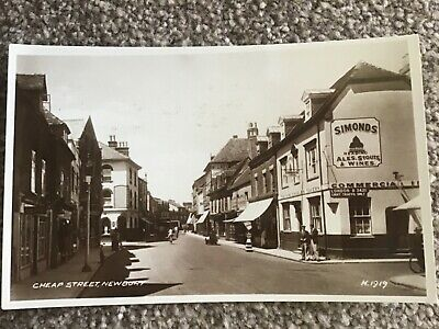 Cheap Street Newbury, Real Photo Postcard Showing King Charles Tavern, 1919 • 20£