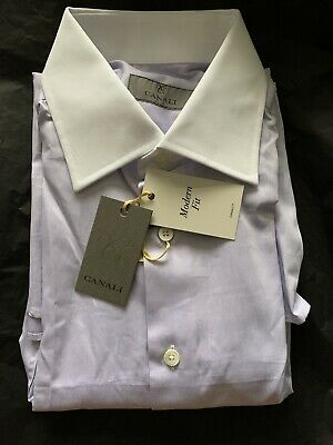 £39.99 • Buy Canali Shirt 15.5 39 Lilac New With Tags RRP £190 100% Authentic