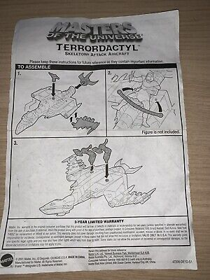 $14.82 • Buy Masters Of The Universe Terrordactyl Mattel Instructions 2001