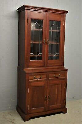 £225 • Buy Mahogany Bookcase Display Cabinet Solid Wood Alcove Slim Delivery Available