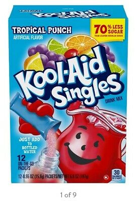 £5.66 • Buy Kool Aid Singles Tropical Punch Powered Soft Drink Mix 12 Ct On The Go Packrts