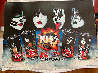 AU127.51 • Buy KISS 7-Eleven Cup Poster Display Lightform Rare Post Aucoin