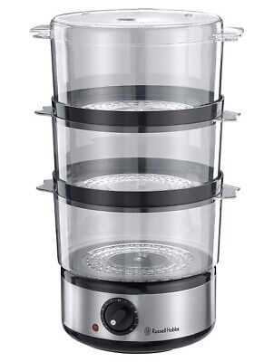 £29.99 • Buy Russell Hobbs Food Collection 7L Compact 3 Tier Food Steamer And Rice Bowl