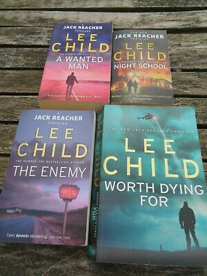 Lee Child 4: The Enemy / A Wanted Man / Night School / Worth Dying For • 0.99£