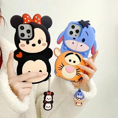 AU14.13 • Buy Cute Cartoon Disney Pendant Silicone Case Cover For IPhone 12 Pro Max 11 XR 7 8+