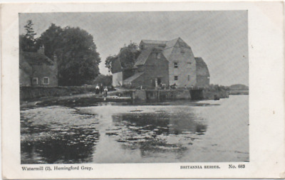 Cambridgeshire Postcard Hemingford Grey The Watermill People In View Posted 1905 • 5£