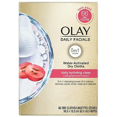 AU15.45 • Buy Olay Daily Facials 5 In 1 Cleansing Daily Hydrating Clean 66 Dry Cloths