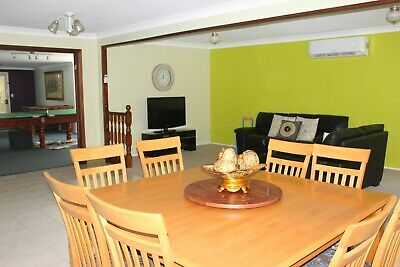 AU180 • Buy 8 Seater Square Dining Table Chairs 1.5m X1.5m + Free Seat Covers & Cushions