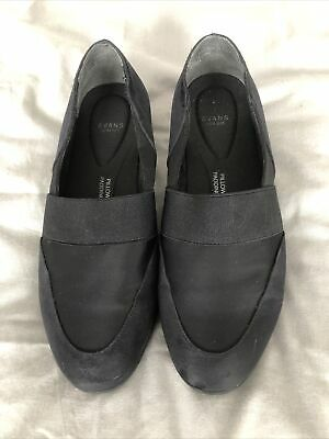 Evans Size 6EEE Black Comfy Shoes • 1.60£