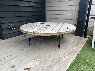 Large Wooden Cable Drum/Reel/Spool Table With Legs • 25£