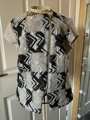 Steilmann Wool Top, Size 10, Zips Up Front, Can Be Worn Has A Gilet, **SALE** • 1£