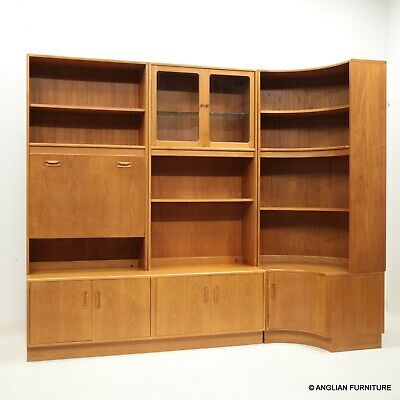 £687 • Buy GPlan Teak Wall Unit And Corner Unit 5 Sections Drinks Section FREE UK Delivery