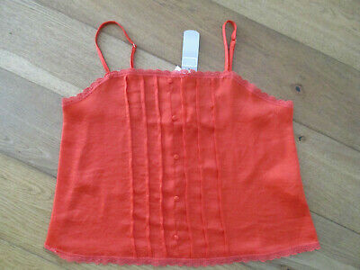 Ladies Primark Secret Possessions BNWT Orange Strappy Cami Top Size 10/12 • 0.99£