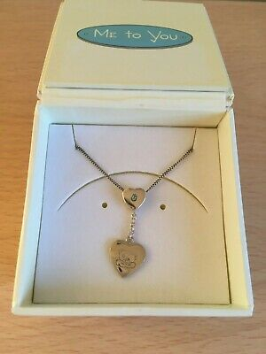 £23 • Buy 'Me To You' Tatty Teddy Sterling Silver Heart Necklace