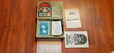 $19.99 • Buy 1962 Vintage Mille Bornes French Card Game In Box, Parker Brothers, Complete