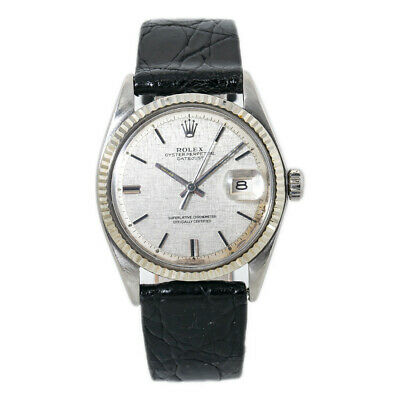 $ CDN4725.22 • Buy Rolex Datejust 1601 VIntage Silver Linen Dial Automatic Mens Watch 36MM