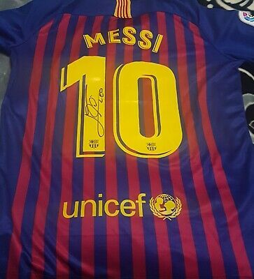 AU155 • Buy Lionel Messi Personally Hand Signed Barcelona 2018/2019 + Proof  + Coa