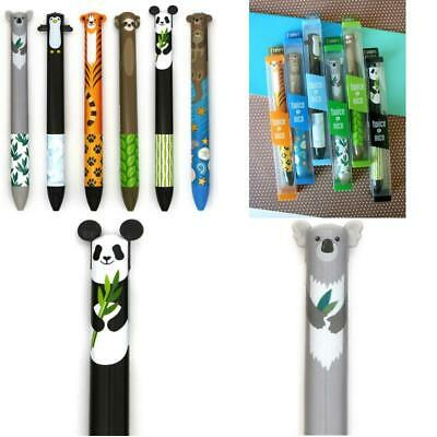 £19.87 • Buy Twice As Nice 2 Color Click Pens - Cute Creatures - Set Of 6