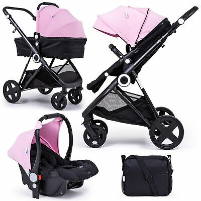 £249.99 • Buy The Million Dreams 3 In 1 Travel System Pushchair Car Seat Changing Bag - Pink