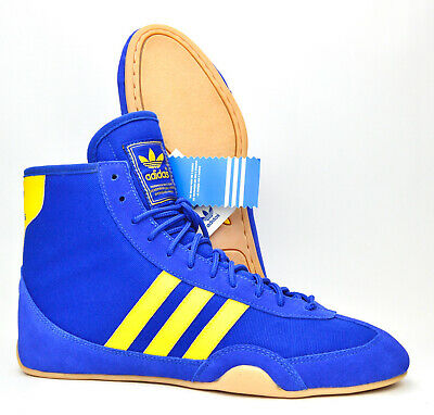 $ CDN402.66 • Buy ~NEW~ Adidas Canvas Wrestling Shoes Size 9 (2003) Blue Yellow RARE