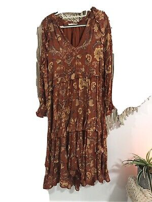 AU300 • Buy Spell And The Gypsy Aurora Gown Xs Fits 12 Easy. Great Condition .