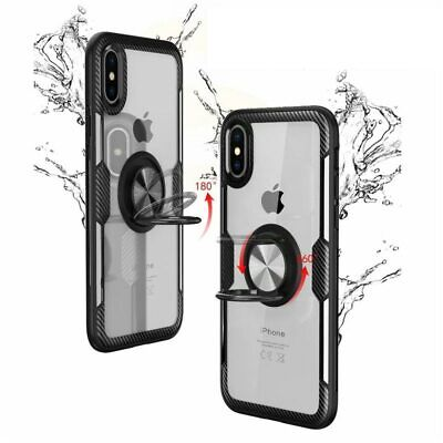 AU6.43 • Buy GKK For IPhone XR Case Transparent Acrylic+Soft TPU Edge Cover With Finger Ring