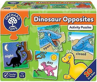 £10.97 • Buy Orchard Toys 295 Dinosaur Opposites Activity Puzzles, Multi