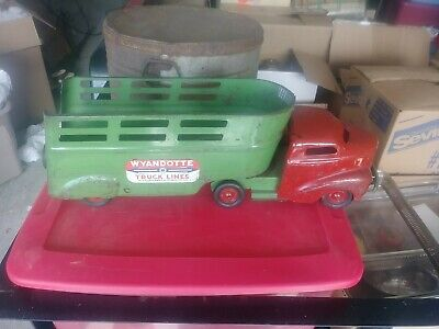 $ CDN145.10 • Buy Antique Wyandotte Truck Lines Pressed Steel Truck And Trailor