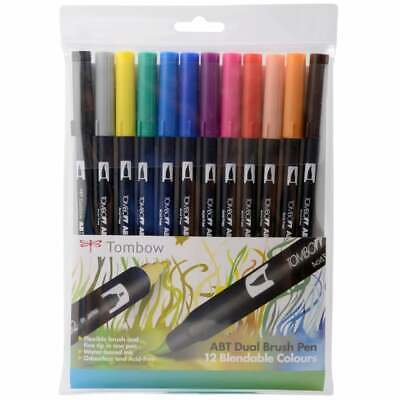 £24.99 • Buy Tombow ABT Dual Brush Colour Pens - Primary Colours Set Of 12