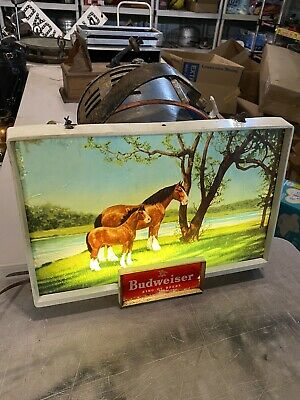 $ CDN482.47 • Buy Vintage Budweiser Clydesdale Horse Light Up Electric Signage 1950's Era