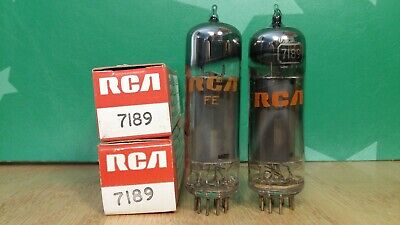 AU159.41 • Buy Pair Of RCA 7189 NOS NIB Gray Glass Vacuum Tubes - Gm & Ip Matched