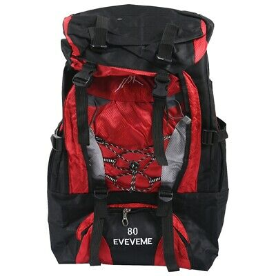 AU30.69 • Buy EVEVEME 80L Load Waterproof Rucksack Backpack Bag Luggage Outdoor Hiking Ca J5A3