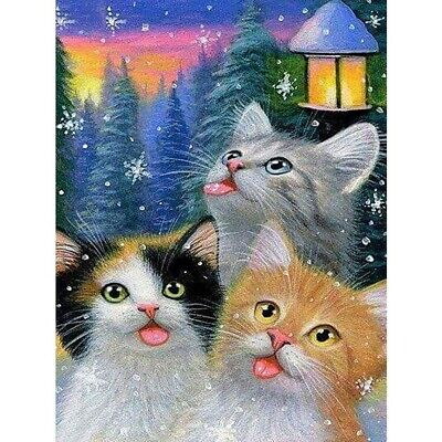 AU13.76 • Buy Gifts Cats Full Drill Diamond Painting Embroidery Cross Stitch Kit Home Decor