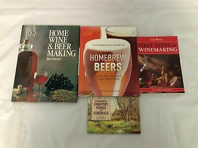 £9.99 • Buy 4x Home Brewing Books Home Wine & Beer Making Homebrew Beers First Steps In Wine