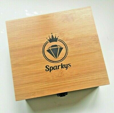 £19.50 • Buy Extra Large 'Sparkys' BAMBOO Wooden Rolling Stash Box Gloss Finish