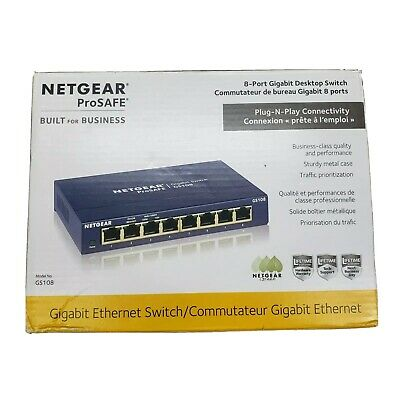 AU32.50 • Buy NETGEAR 8-Port Gigabit Ethernet Unmanaged Switch (GS108) - Blue