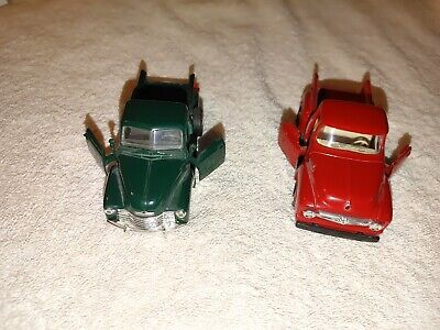 AU15.24 • Buy 2 Used Road Champs Diecast Pickups (53 Chevy & 56 Ford)
